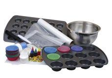 Approvisionnements de cuisson Images stock
