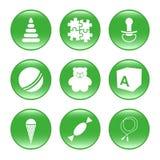 Approvisionnements de pépinière - graphismes de Web de vecteur (boutons) Photo stock