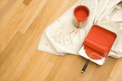Approvisionnements de peinture. Image libre de droits