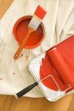 Approvisionnements de peinture. Images libres de droits