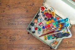 Approvisionnements de peinture Photographie stock libre de droits