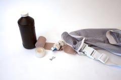 Approvisionnements de premiers secours photographie stock libre de droits