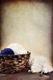 Approvisionnements de tricotage Photo stock