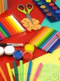 Approvisionnements pour des classes d'art Image stock