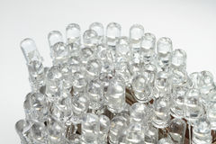 LEDs. Approximately 100 new LEDs are wildly together royalty free stock image