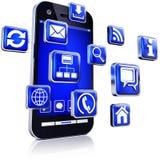 Apps για τα smartphones Στοκ εικόνες με δικαίωμα ελεύθερης χρήσης