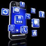 Apps για τα smartphones Στοκ φωτογραφία με δικαίωμα ελεύθερης χρήσης