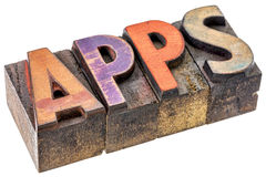 Apps - λογισμικό για τις κινητές συσκευές Στοκ Εικόνα