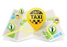 Apps такси на карте бесплатная иллюстрация