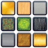 Apps текстурировало кнопки 3 Стоковое Фото