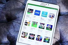 Apps ФИФА Стоковые Фотографии RF