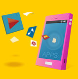 Apps для андроида Стоковое Фото