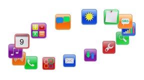 Apps ilustração do vetor