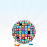 Apps Background Concept. Vector Illustration Stock Image