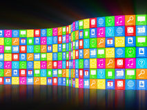 APPS Background with Glowing Rays Royalty Free Stock Photos