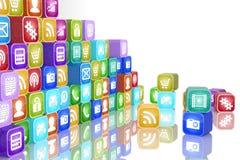 Apps begrepp Fotografering för Bildbyråer