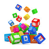APPS Box Falling Royalty Free Stock Images