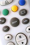 Apps Button. A picture of app button on modern television remote control with WiFi connection Stock Photography