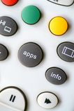 Apps Button On Remote Control. A picture of app button on modern television remote control royalty free stock images