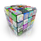 Apps Cube of Application Software Tiles Royalty Free Stock Photo