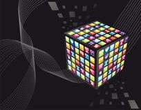 apps cube ikony globalnego iphone Zdjęcia Stock
