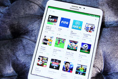 Apps de Fifa Photos libres de droits