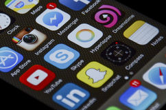 Apps de IPhone fotos de archivo libres de regalías