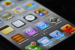 Apps de IPhone e loja do app Imagem de Stock