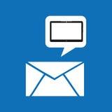 Apps de media d'email de dispositif de nuage graphiques illustration stock