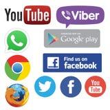 Apps de mise en réseau de media illustration stock