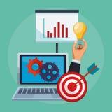 Apps de mobile d'affaires illustration stock