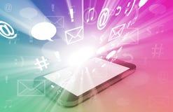 Apps de Smartphone ilustração stock