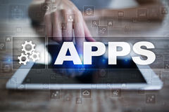 Apps development concept. Business and internet technology Royalty Free Stock Images