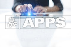 Apps development concept. Business and internet technology Royalty Free Stock Photos