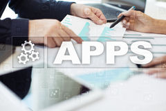 Apps development concept. Business and internet technology. Stock Photos