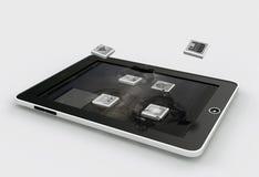 Apps die in de vertoning van gadget valt Royalty-vrije Stock Afbeeldingen