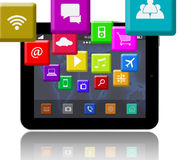 Apps on the Digital Tablet Stock Image