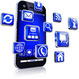 Apps dla smartphones Obrazy Royalty Free