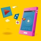 Apps för Android Arkivfoto