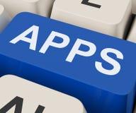 Apps fecha a aplicação do Internet das mostras ou o App Fotografia de Stock