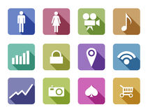 Apps Flat design vector icon set mobile applicatio Stock Photos