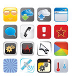 Apps icon set four Royalty Free Stock Images
