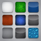 Apps icon set Stock Photos