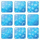 Apps icon set Stock Photography