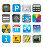 Apps icon set three Stock Photography