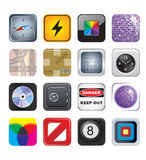 Apps icon set two Royalty Free Stock Photography