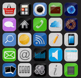 Apps icon set vector illustration Royalty Free Stock Photo