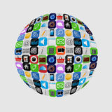 Apps icon set vector illustration Royalty Free Stock Image