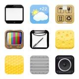 Apps icon set Stock Photos