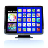Apps Icon Tiles on High Definition Television HDTV Stock Photography